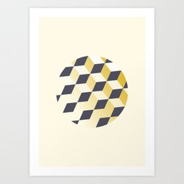 Geometric Circle Study Series No. 1 Art Print
