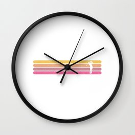 Retro Golf  TShirt Retro Shirt Vintage Gift Idea Wall Clock