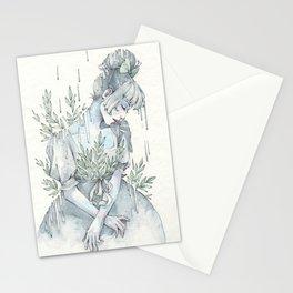 Springy Rain Stationery Cards