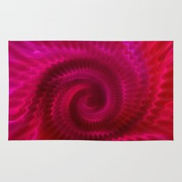 Red Power Wave Rug