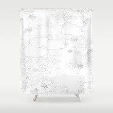 land of 15 towns and a cemetary Shower Curtain