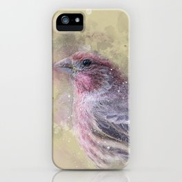 Rosey House Finch iPhone Case