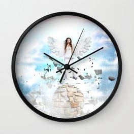 Archantael silver angel by GEN Z Wall Clock