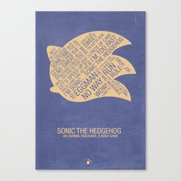Sonic the Hedgehog Typography Canvas Print