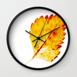 BE LIKE A LEAF #4 Wall Clock