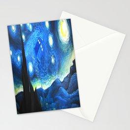 Tardis Flying Starry Night Stationery Cards