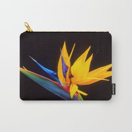 Strelitzia Isolated On Black Background Photography Carry-All Pouch