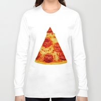 pizza Long Sleeve T-shirts featuring PIZZA by @thecultureofme