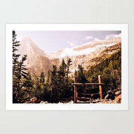 Up in the Mountains Art Print