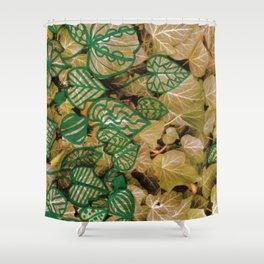 leaves evolved 3 Shower Curtain