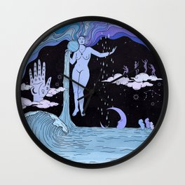 THE WATER MAGICIAN Wall Clock