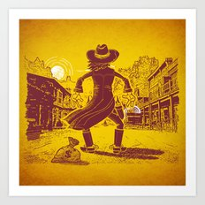 The Last Showdown - The bad guy Art Print