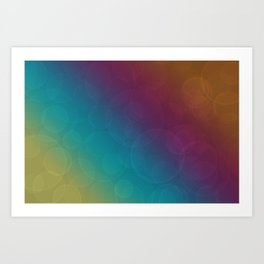 Bohek Bubbles on Rainbow of Color - Ombre multi Colored Spheres Art Print