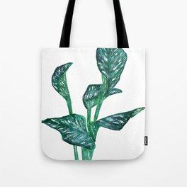 green calla lily Tote Bag