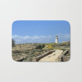 Lighthouse in Paphos Bath Mat