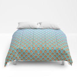 Elongated Holes2 Florida Green Comforters