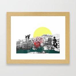 Those Were The Days Framed Art Print