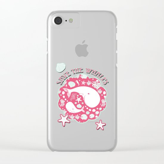 The Whales dance Clear iPhone Case