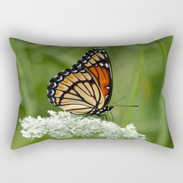 Viceroy Butterfly on Queen Anne's Lace Rectangular Pillow