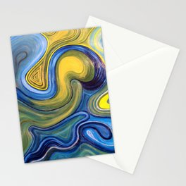 Crazy Circles Stationery Cards