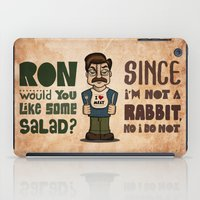 ron swanson iPad Cases featuring Ron Swanson 2 by maykel nunes