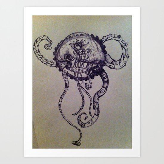 Jelly Octo Punk Art Print
