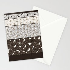SWEET LEAFS PATCHWORK: BROWN Stationery Cards