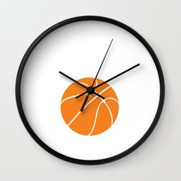 1% Talent 99% Work Basketball Sports Funny T-shirt Wall Clock