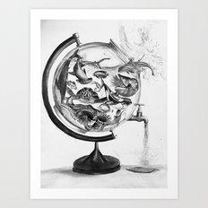 The Spill Art Print