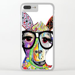 Hipster Goat Clear iPhone Case