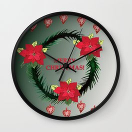 Merry Christmas Wishes Wall Clock
