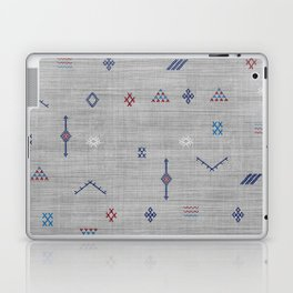 Cactus Silk Pattern in Grey Laptop & iPad Skin