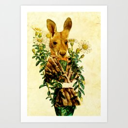 Australian Icon: The Kangaroo Art Print