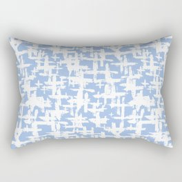 Brush cross on  blue Rectangular Pillow