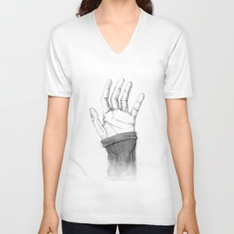 Hand disappearing Unisex V-Neck