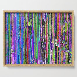 Abstract Distressed Colour Stripes 1317 Serving Tray