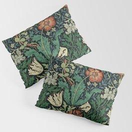 William Morris Compton Floral Art Nouveau Pattern Pillow Sham