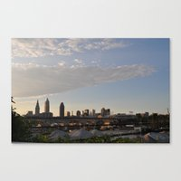 cleveland Canvas Prints featuring Cleveland  by BrieCLE