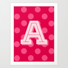 A is for Awesome Art Print