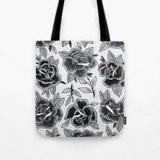 Dozen Roses - Black and White Tote Bag