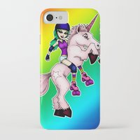 roller derby iPhone & iPod Cases featuring Roller Derby Unicorn by RonkyTonk