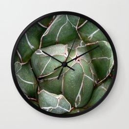 Cactus Succulent Plant art Modern art Scandinavian circle Wall Clock