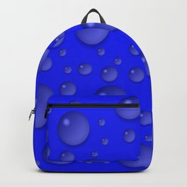 Water drops - Blue Backpack