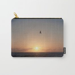 flight over ocean sunrise Carry-All Pouch