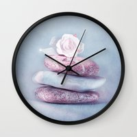 kpop Wall Clocks featuring BALANCE by INA FineArt