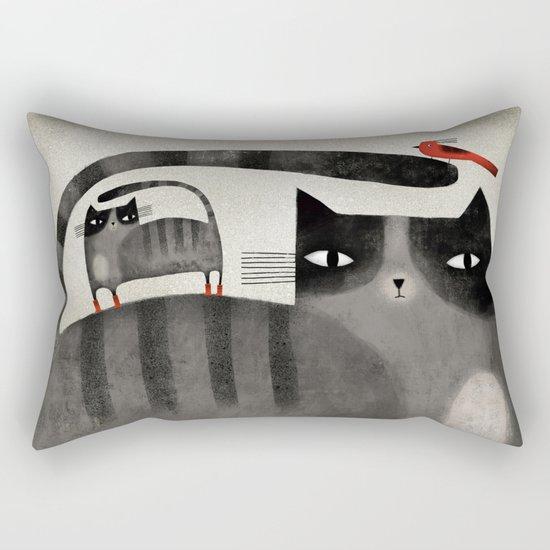 RED BOOTS & BIRD Rectangular Pillow