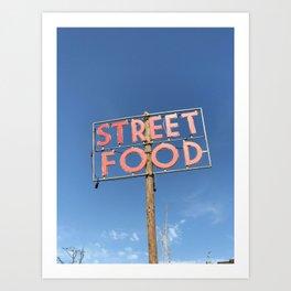street food sign Art Print