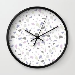 Nobody Knows - Terrazzo Pattern Wall Clock