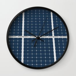 Image Of A Solar Power Panel. Free Clean Energy For Everyone Wall Clock