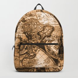 World Map Antique Vintage Maps Backpack